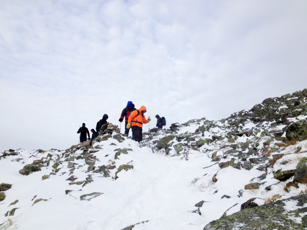 Group of Prepared Climbers on Mount Washington