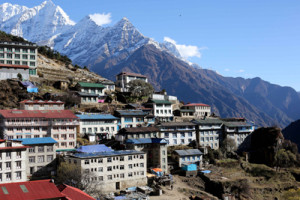 Namche Bazaar is the cultural capital of the Khumbu Valley