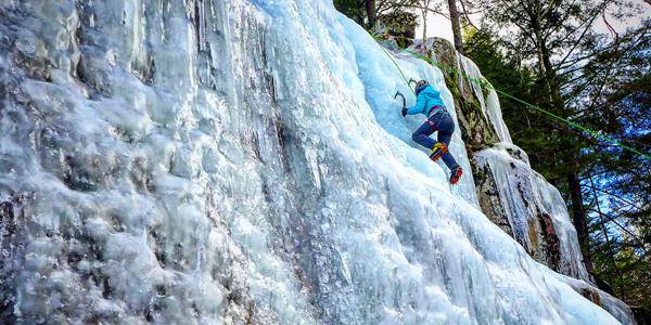 Abigail Martinez Ice Climbing