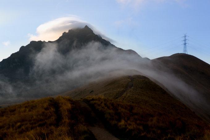 Rucu Pichincha (15413ft) trades in sunshine for clouds