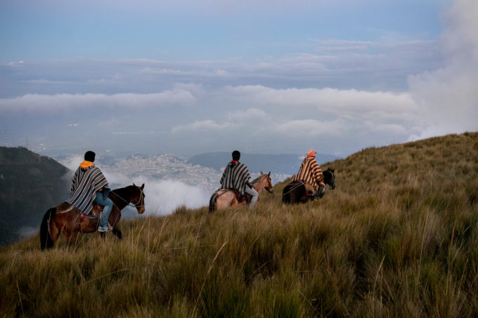 Locals ride 3,500ft above Quito