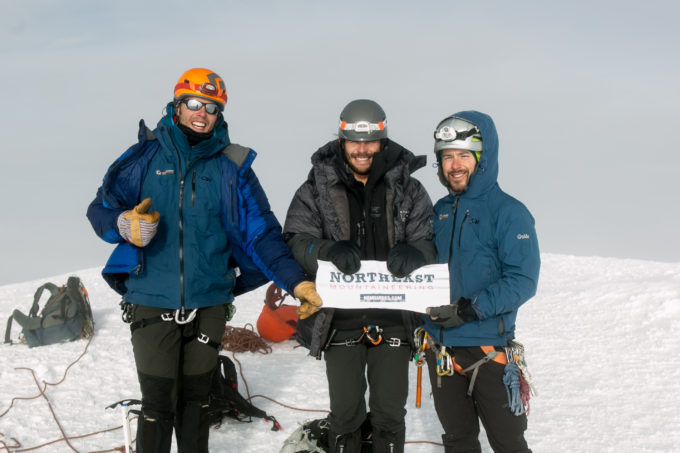 Our team (minus Ramiro) on the summit of Cayambe. Since the climb is done in the dark, our first images are from the summit itself