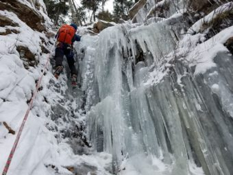 ChaseTheSummit.com: Ice Climbing on Mount Willard!